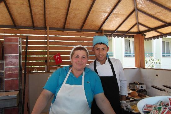 Luana Hotels Santa Maria: The bread making lady, the best in Kusadasi