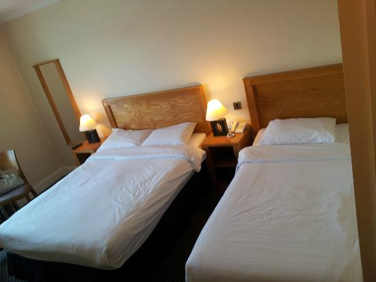 Waterford Marina Hotel: Beds in river view room.