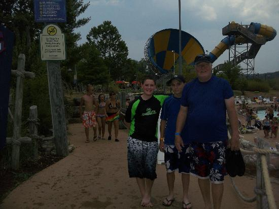 Hurricane Harbor: in front of the tornado