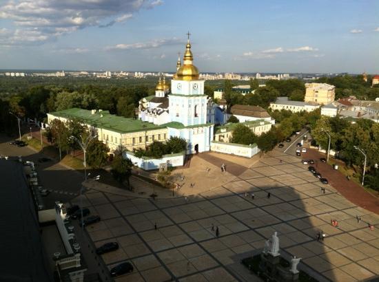 uitzicht vanuit Intercontinental Kiev hotel