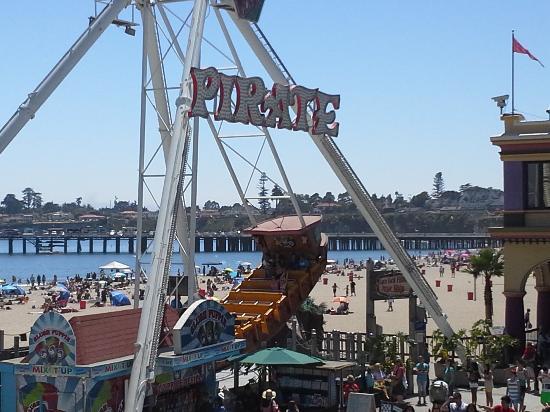 Santa Cruz Beach Boardwalk Pirate Ship With View Of The Pier