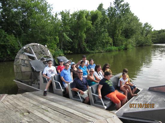 Bayou Black Airboat Swamp Tours: Airboat: noisy. earmuff provided