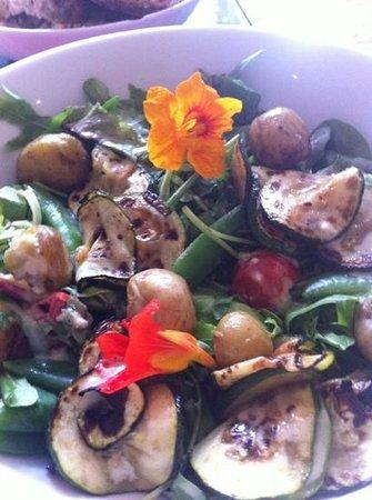 Letting: beautifull fresh salad with season veg