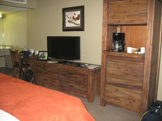 ماليين لودج: TV and coffee machine