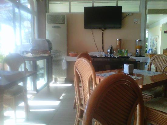 Hotel Playa De Canet: Esquina del Bar destinada al Buffet.