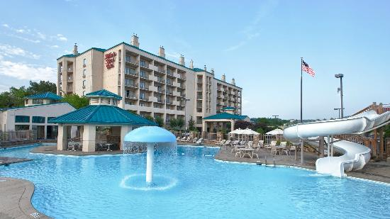 At Music Road Resort HOTEL, float the lazy river or slide down the 60 ft corkscrew water slide!