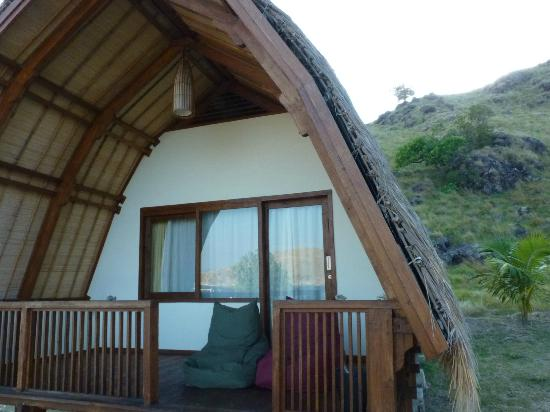 Komodo Resort & Diving Club: our chalet, view reflected