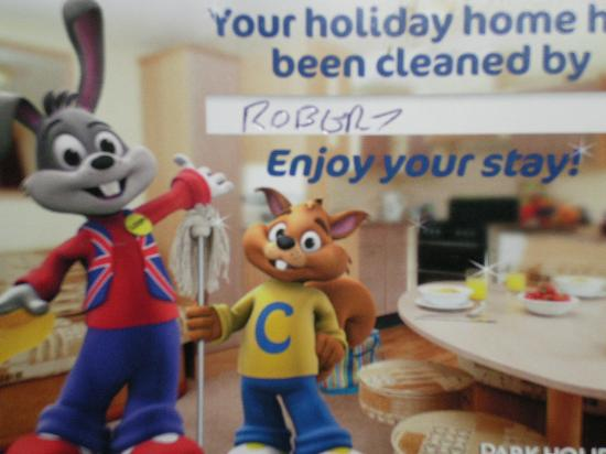 Golden Sands Holiday Park - Park Holidays UK: Avoid this cleaner if you can