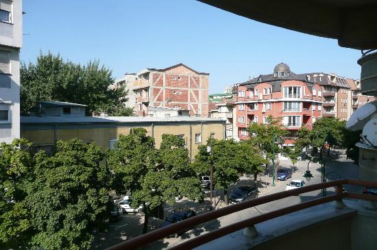 Skopje Hotel Tim's: Aussicht aus dem 2 Stock Tim's