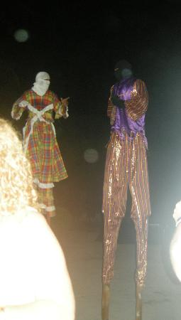 The Palms at Pelican Cove: moko jumbies on Caribbean night!