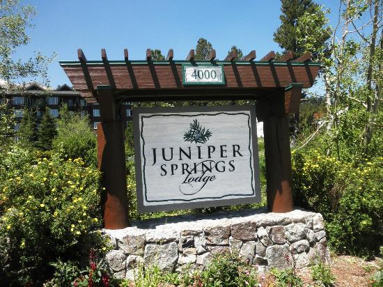 Juniper Springs Resort: Juniper Springs sign