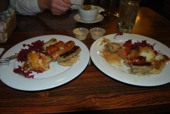 Solvang Restaurant: One meal split into 2. So much yummy food for a great price.