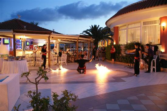 Meandros Boutique Hotel: Traditional Greek fire dancing