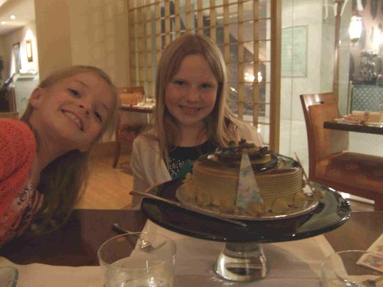 Hotel Grand Park Inn: The cake they gave my daughter for her birthday