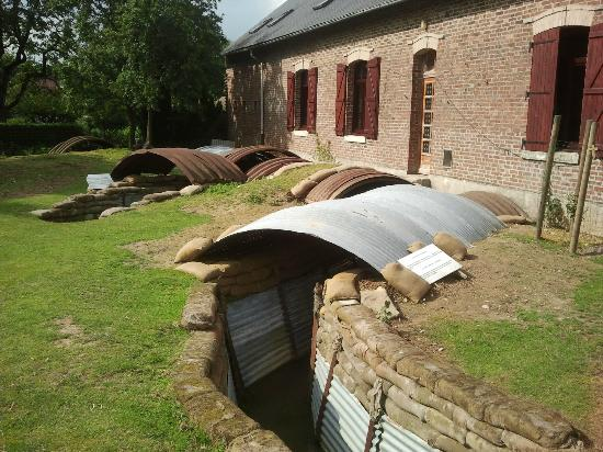 Avril Williams Guest House: Restored trench in rear garden