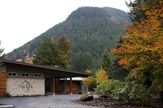 The Spa at Mt Hood: The Spa - daytime exterior - autumn