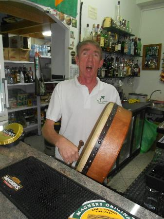 The Shamrock Irish Bar : Frank enjoying the craic
