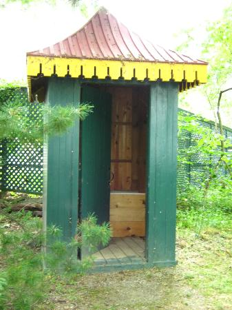 Bellevue House National Historic Site : Fancy outhouse!