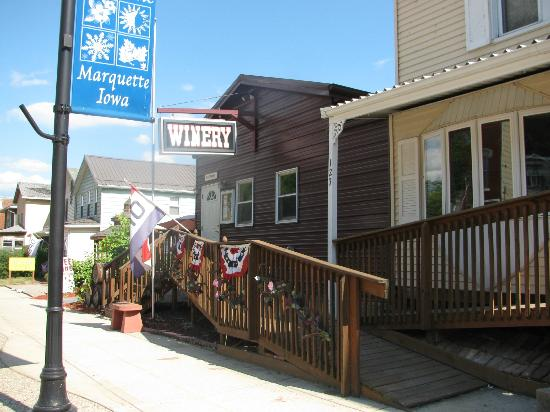 Eagles Landing Winery: You can find Eagle's Landing on main street in Marquette. IA near the Mississippi River.