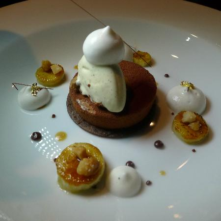 Double Chocolate Tart With Black Pepper Ice Cream Recipe ...