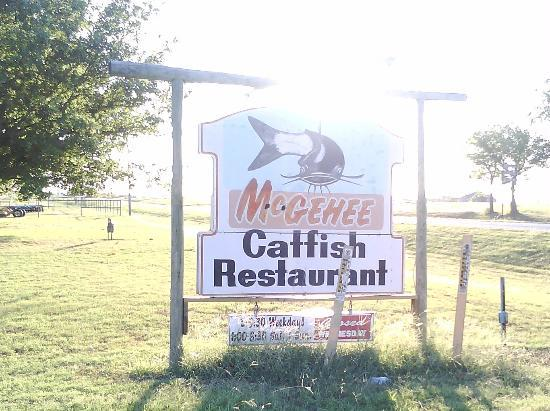 McGehee's Catfish Restaurant: First sign