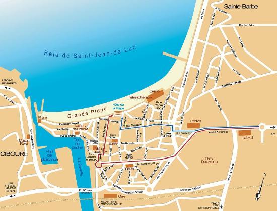 carte saint jean de luz Une situation exceptionnelle à Saint Jean de Luz    Picture of