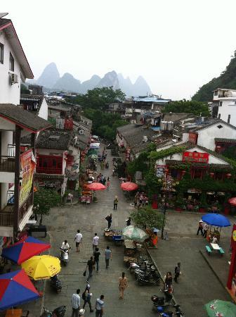 Hanpudun Holiday Hotel Yangshuo West Street: the wiev