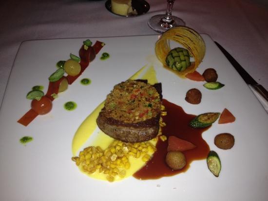 Aureole: amazing beef dish from the Sunday night set dinner menu!