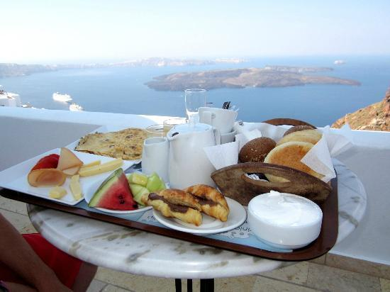 Tholos Resort: Breakfast with a View : )