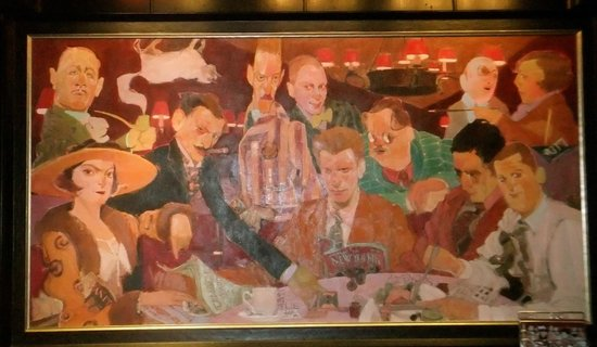 The Blue Bar, Algonquin Hotel : The mean circle, with Dorothy Parker