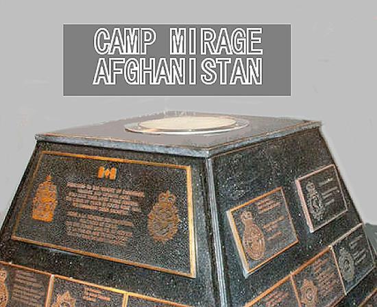National Air Force Museum of Canada: Afghanistan memorial