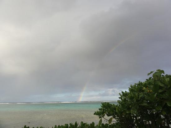 Sea Change Villas: Rainbow over the ocean