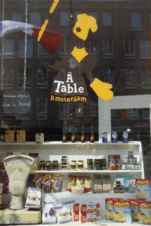 A Table Amsterdam: outside logo A TABLE