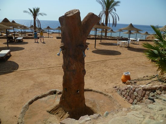 Poinciana Sharm Resort & Apartments: душ на пляже