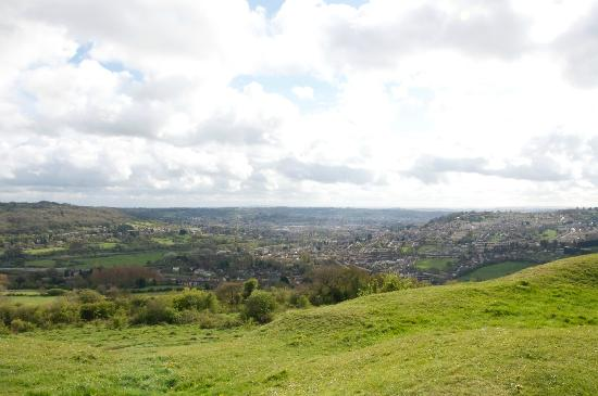 Batheaston, UK: On top of the hill overlooking Bath