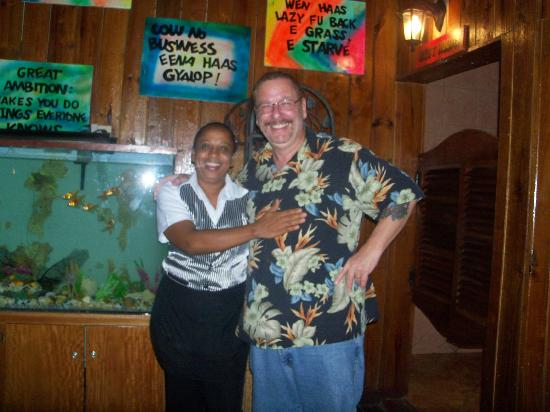 Club Calypso Seafood Restaurant : My friend Pam and me in the Calypso