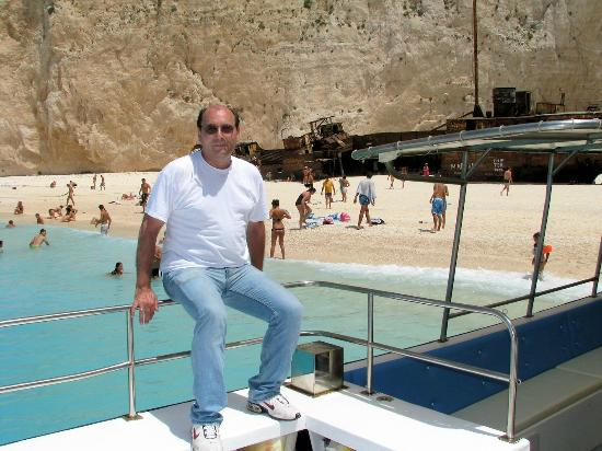 "Oniro ""The Dream"" Studios: Panos on the boat at the Shipwreck beach"