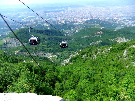 Albanien: cable car