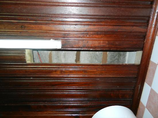 Chavda Hotel Ltd: The roof in our bathroom