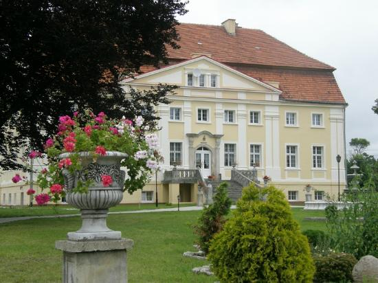 Palac Henrykow: Widok Pałacu od ogrodu