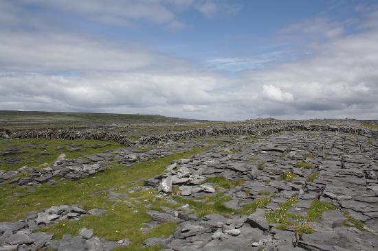Inishmore, Ireland: Limestone pavement at Dún Dúchathair