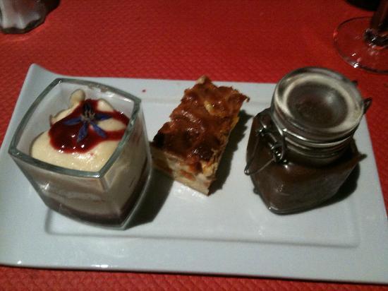 La Villa: array of small desserts