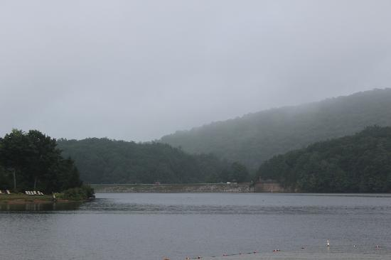 Rocky Gap State Park: early morning over lake