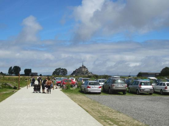 mont st michel seen from car park picture of abbaye du mont michel mont michel