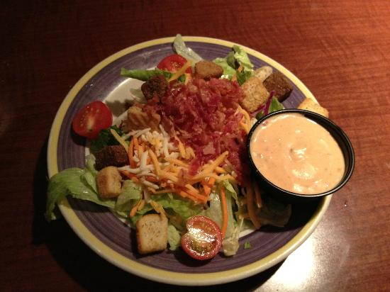 FATZ: Included salad with dressing on the side