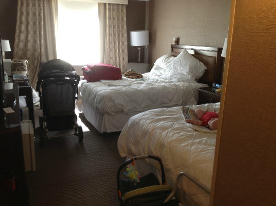 Sheraton Omaha Hotel: Those traveling with children can relate to the need for space.