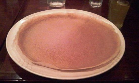 Mesob Ethiopian Restaurant: Base where they serve the food and you eat along with this