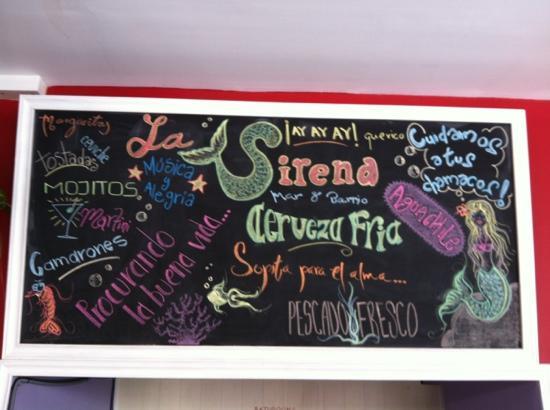 La Sirena Mar y Barrio: la sirena!! restaurante