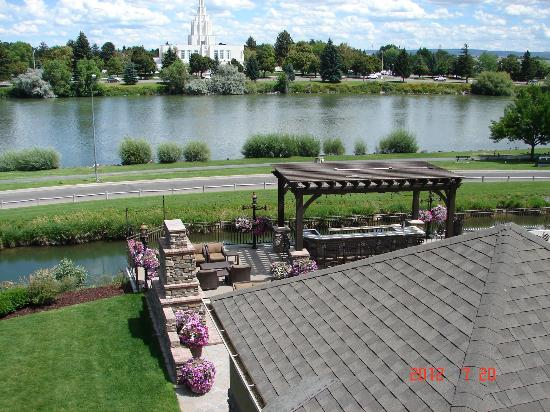 View Of Snake River And Idaho Falls Picture Of Hilton Garden Inn Idaho Falls Idaho Falls
