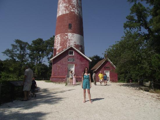 Assateague Lighthouse: Me in front of the Assateague Light House